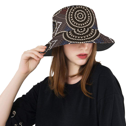 Australia Aboriginal Bucket Hat 07