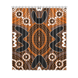 Australia Window Curtains Aboriginal Pattern