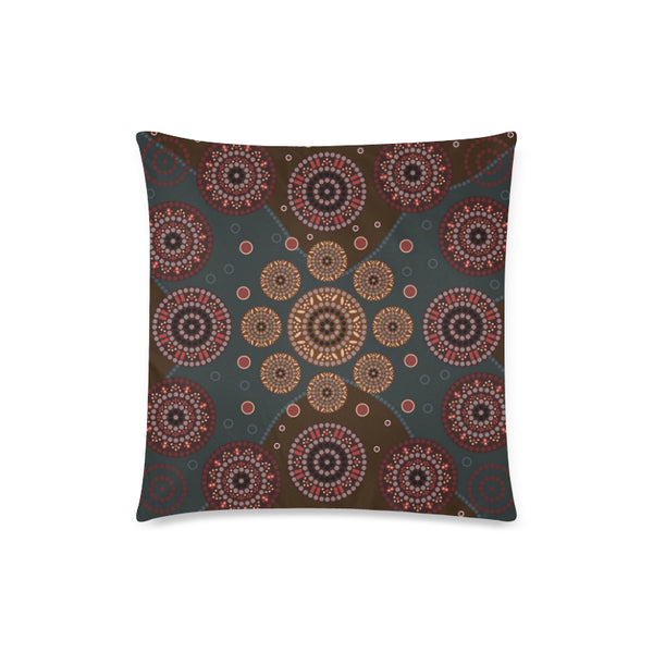 1stAustralia Pillow Covers - Aboriginal Dot Painting Pillow Ver02 Covers