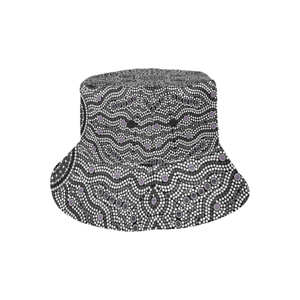 1stAustralia Bucket Hat - Aboriginal Dot Painting Hat Ver04 - Th1