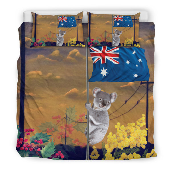 1stAustralia Bedding Sets - Koala Bed Aus Flag Sunset Painting Sets - K5