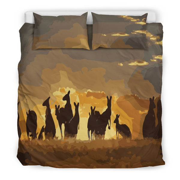 1stAustralia Bedding Sets - Kangaroo Bed Sets Family Sunset Ver02 - Nn0