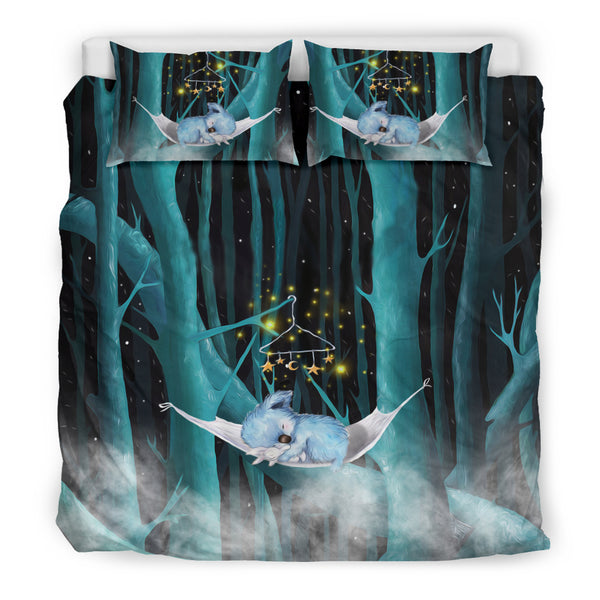 Australia Koala Sleeping In the Forest Duvet Cover