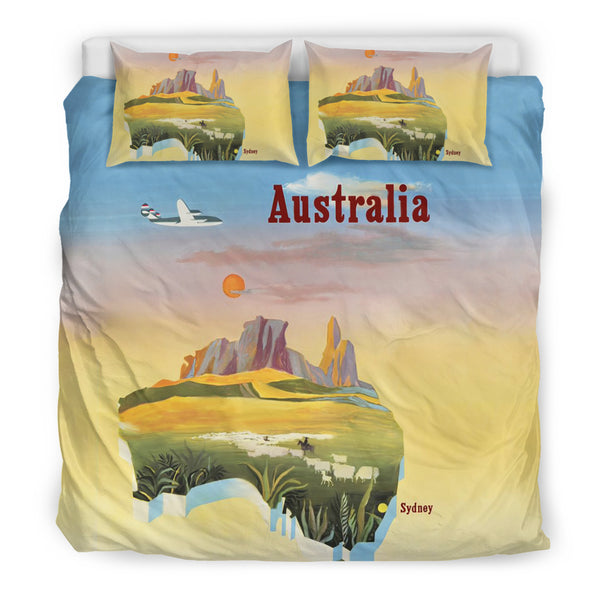 1stAustralia Bedding Sets - Australia Map Bed Poster Map Australia Sets - Th9