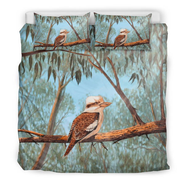 Kookaburra On Tree Bedding Set Australia - King size