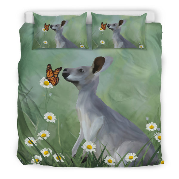 Kangaroo Butterfly Bedding Set Australia - King size