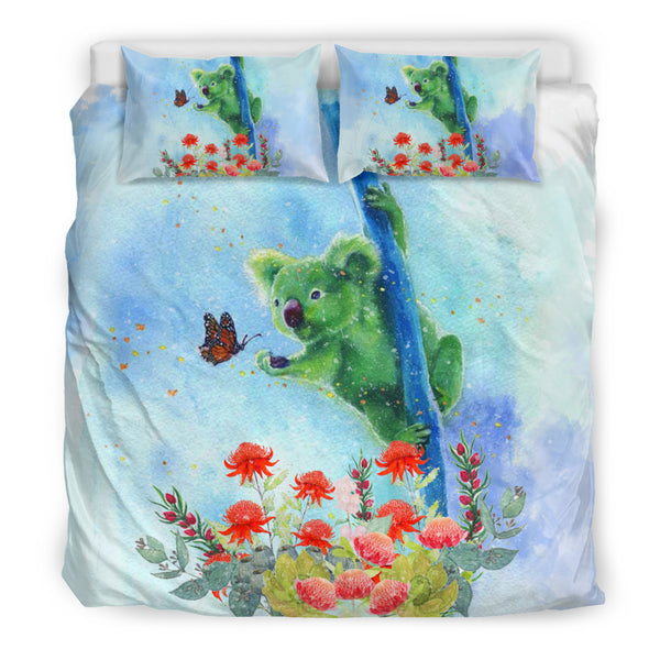 1stAustralia Bedding Sets - Koala Bed Butterfly In Waratah Painting Sets - Th9