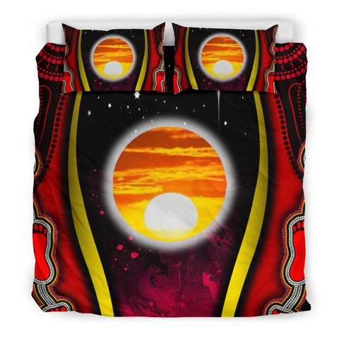 1sAustralia Bedding Set - Australian Aboriginal Flags Symbolic Meaning - BN19