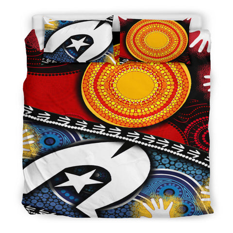 1sAustralia Bedding Set - Australian NAIDOC Aboriginal and Torres Strait Island Flags - BN19