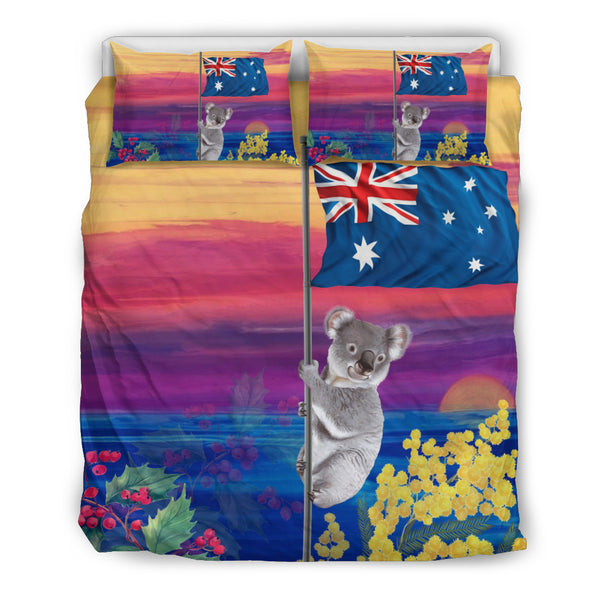 Australia Koala Duvet Cover Set - Koala Sunset