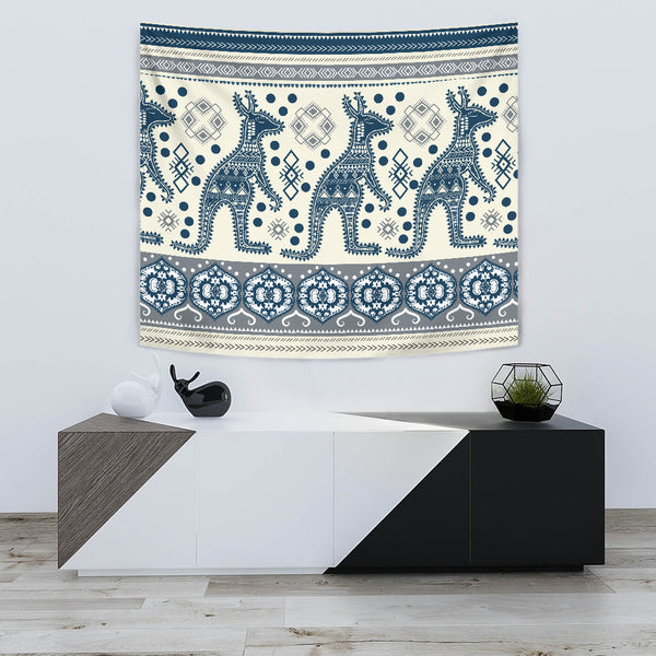 1stAustralia Tapestry - Aboriginal Dot Painting Tapestries Kangaroo