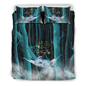 Australia Koala Duvet Cover Set Sleeping In the Forest
