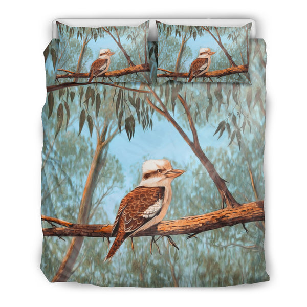 Australia Duvet Cover Set Kookaburra On Tree