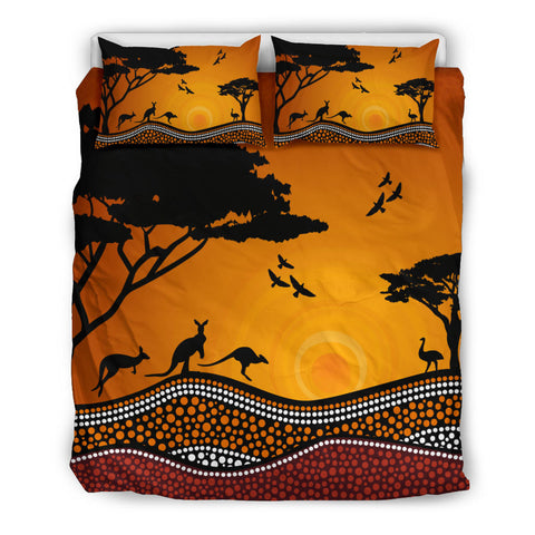 Australia Duvet Cover Set Australia Pattern Sunset