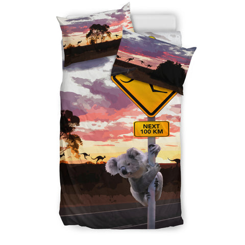Kangaroo Sign With Koala Bedding Set