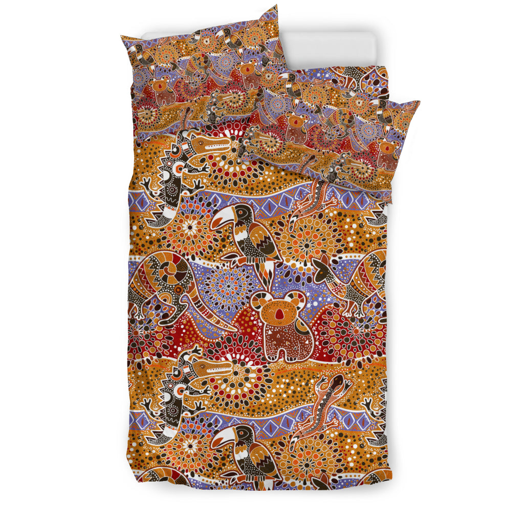 Australia Bedding Set Aboriginal Bohemian Animals