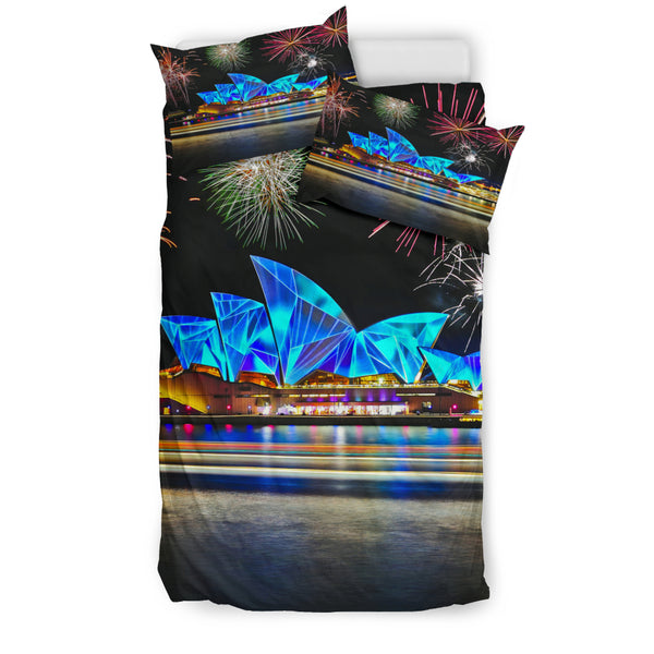 1stAustralia Bedding Sets - Sydney Opera Bed Mid Night Beautiful Sets - Th7