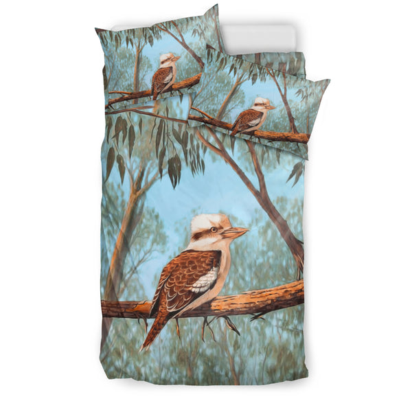 Kookaburra On Tree Bedding Set Australia - Twin size