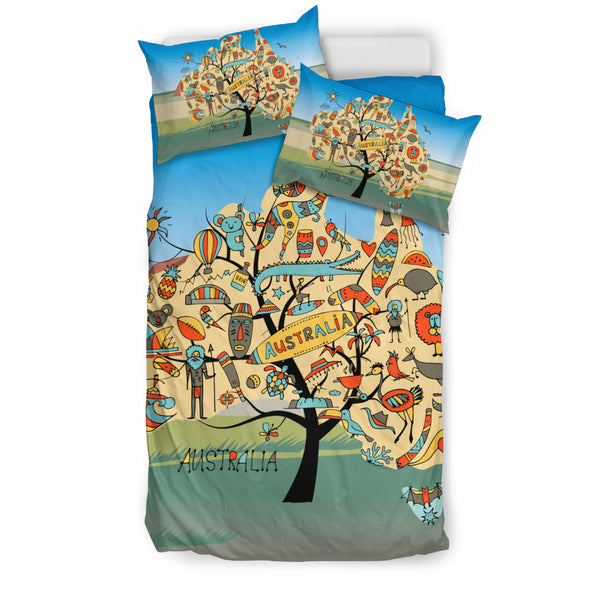 1stAustralia Bedding Sets - Australia Map Bed Symbol Sets - Th1