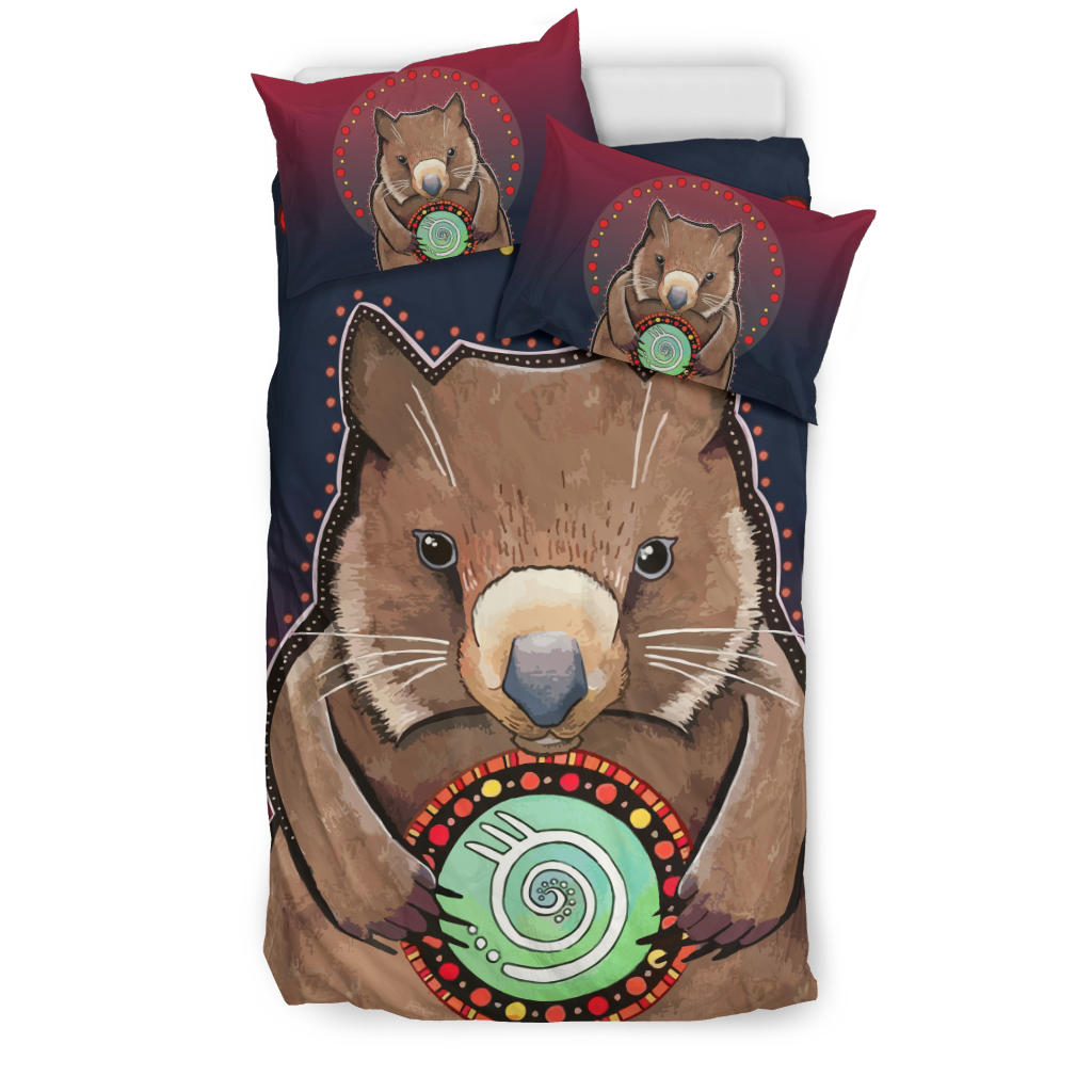 1stAustralia Aboriginal Bedding Sets, Wombat Circle Patterns Drawing Painting - Bn15