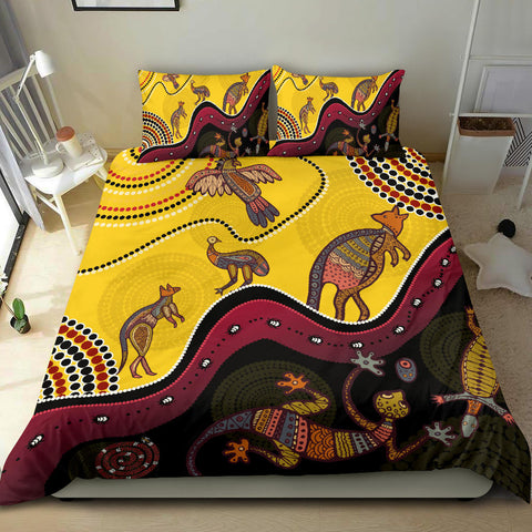 1stAustralia Aboriginal Bedding Set - Indigenous Animals Life Art