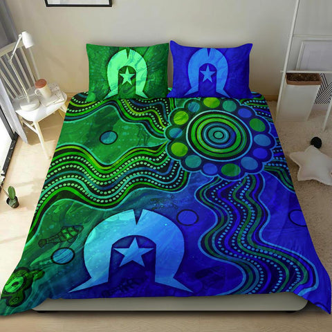 1stAustralia Aboriginal Bedding Set , Torres Strait Islands Flag