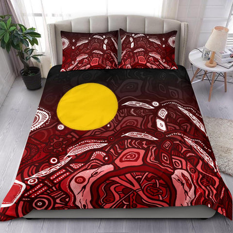 1stAustralia Aboriginal Bedding Set - Red Landscape