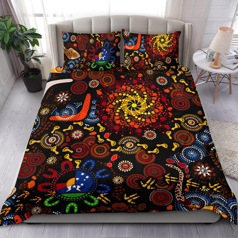 1stAustralia Aboriginal Bedding Set - Indigenous Footprints