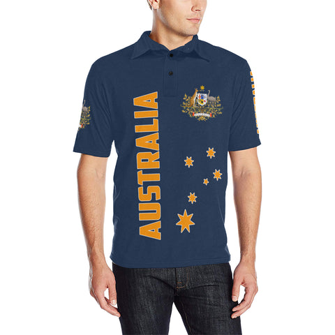 1stAustralia Polo Shirt - Australian Coat Of Arms Shirt Southern Cross Australia - Unisex - Th5