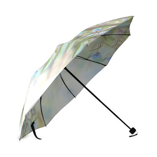 1stAustralia Umbrella - Kookaburra Umbrella Royal Bluebell Landscape Art - Foldable - Nn0