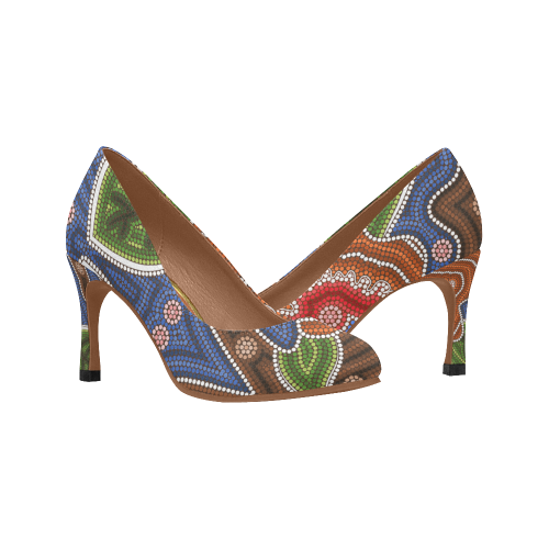 Australia Aboriginal Color High Heels