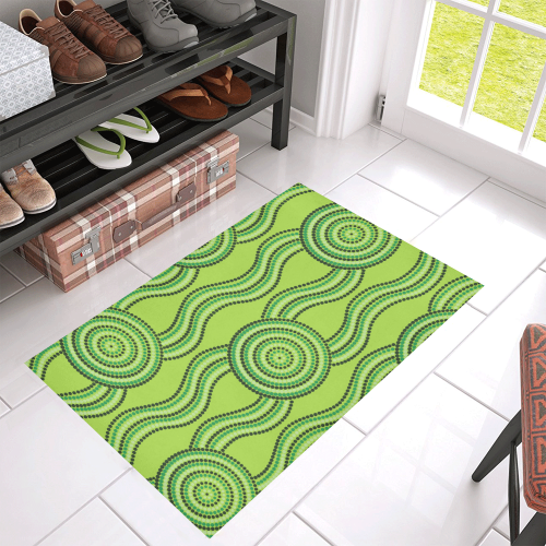 Australia Aboriginal Doormat Green