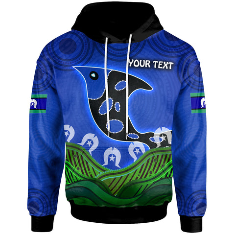 1stAustralia Personalised Hoodie - Torres Strait Dot Patterns Fish