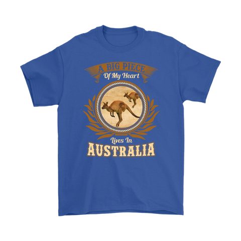 A Big Piece Of My Heart Lives In Australia Men/Women T-Shirt TH70