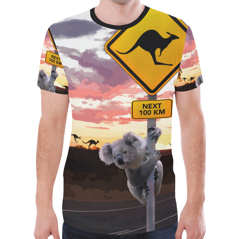 Australia T-shirt Koala With Kangaroo Sign TH1