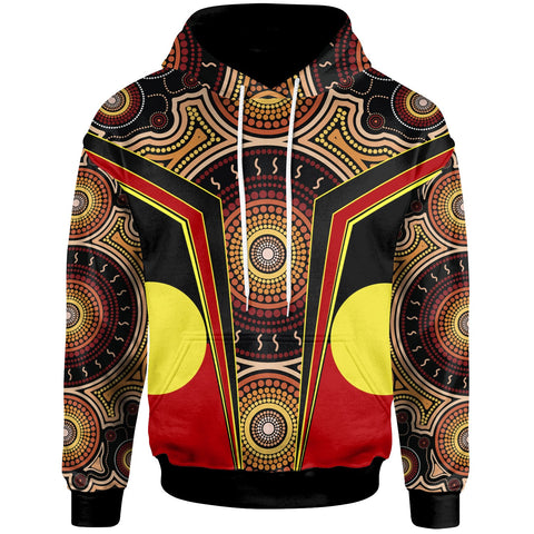 1stAustralia Hoodie - Aboriginal With Dot Painting Art - BN17