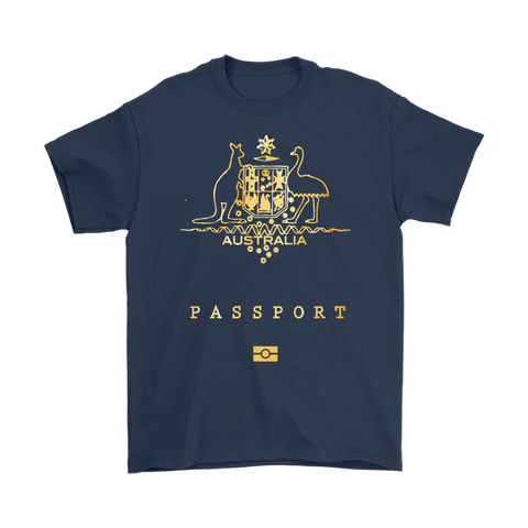Australia Passport T-Shirt For Men And Women TH70