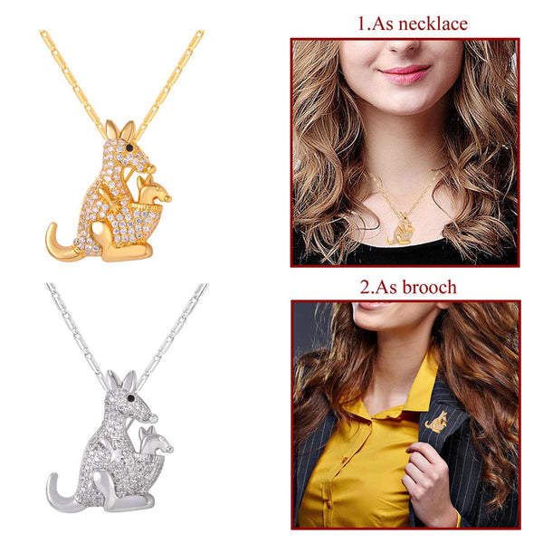 How To Use Cute Kangaroo Necklace & Brooch