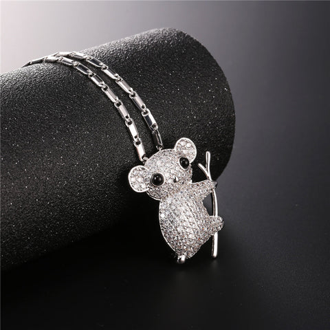 Cute Koala Necklace Silver