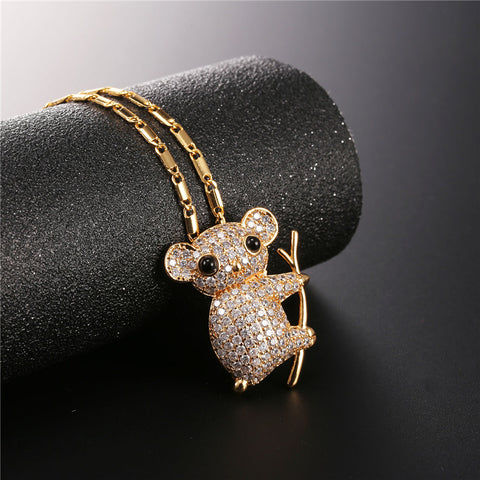 Cute Koala Necklace Gold