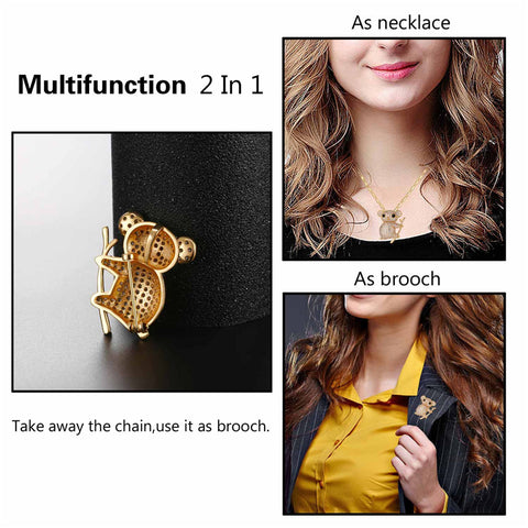 Image of Cute Koala Necklace & Brooch R9