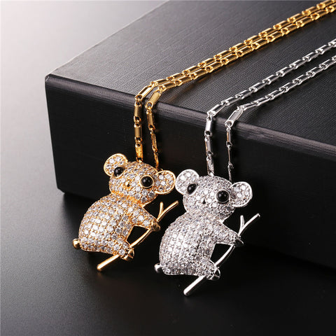 Image of Cute Koala Necklace Silver & Gold