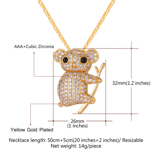 Cute Koala Necklace & Brooch R9