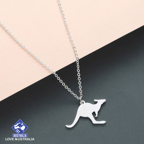 Image of Kangaroo Necklace Stainless Steel Australia
