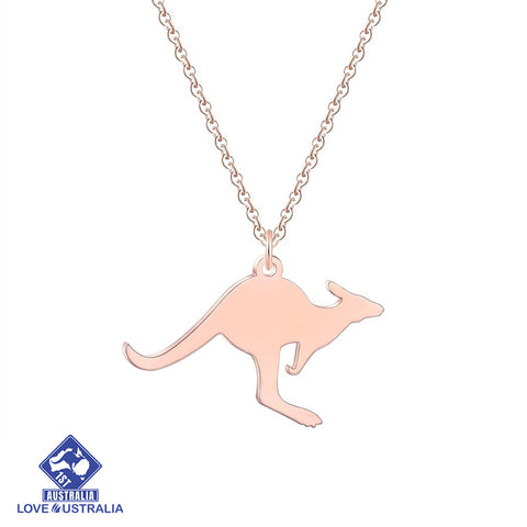 Kangaroo Necklace Stainless Steel Rose Gold Australia