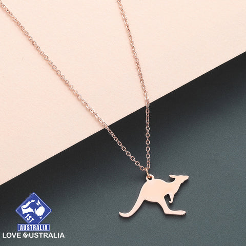 Kangaroo Necklace Rose Gold Australia
