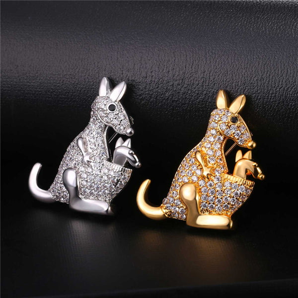 Cute Kangaroo Necklace & Brooch R9
