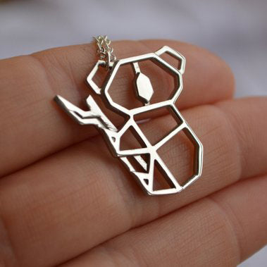 Image of Gold And Silver Personalized Koala Necklace Origami R9