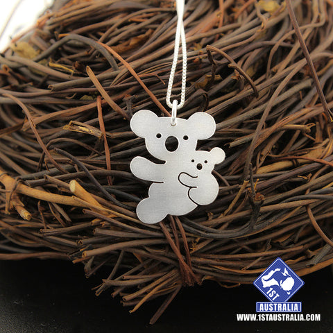 Image of Koala Necklace Mother & Baby Koala Animal