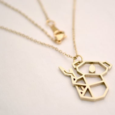 Gold And Silver Personalized Koala Necklace Origami R9